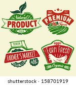 natural product badges | Shutterstock .eps vector #158701919