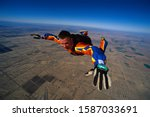 Close Up Of Skydiving Man In...