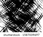 black dirty rough lines texture.... | Shutterstock .eps vector #1587039697