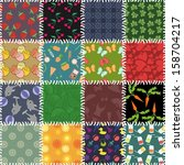 patchwork background with... | Shutterstock . vector #158704217