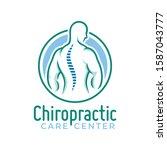chiropractic logo vector  spine ... | Shutterstock .eps vector #1587043777