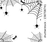 spiders and webs over white... | Shutterstock . vector #158708741