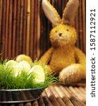 Stuffed Easter Bunny And Baske...