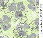 seamless floral pattern with... | Shutterstock . vector #158711777