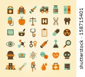 medical icons set  . | Shutterstock .eps vector #158715401