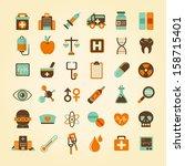 medical icons set  . | Shutterstock .eps vector #158715401