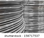 full frame of steel wire | Shutterstock . vector #158717537