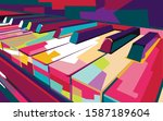Colorful Pop Art Piano Vector ...