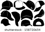 cap set isolated on white | Shutterstock .eps vector #158720654