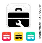 repair toolbox icon. vector... | Shutterstock .eps vector #158722049