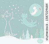 vector image of white  green... | Shutterstock .eps vector #1587229684