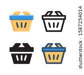 basket logo icon design in four ...