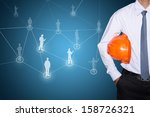 engineering business man... | Shutterstock . vector #158726321