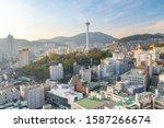 busan city   south korea  ... | Shutterstock . vector #1587266674