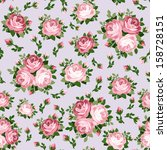 seamless pattern with pink... | Shutterstock .eps vector #158728151