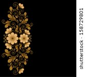 vector vintage floral ... | Shutterstock .eps vector #158729801
