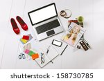 still life of a fashion... | Shutterstock . vector #158730785