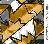 gold geometric vector seamless...   Shutterstock .eps vector #1587311881