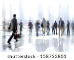 abstakt image of people in the... | Shutterstock . vector #158732801