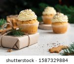 Gingerbread Cupcakes With Cream ...