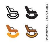 rocking chair logo icon design...
