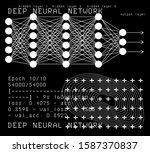 neural network and deep... | Shutterstock .eps vector #1587370837