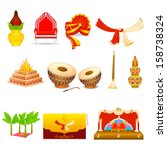 vector illustration of indian... | Shutterstock .eps vector #158738324