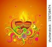 vector illustration of happy... | Shutterstock .eps vector #158738474