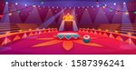 circus arena  classic round... | Shutterstock .eps vector #1587396241