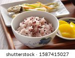 a dish of rice and fish of rice ...   Shutterstock . vector #1587415027