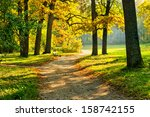 Beautiful October Park With...