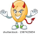 picture of potato as a devil... | Shutterstock .eps vector #1587425854