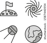 4 set of astronomy icons... | Shutterstock .eps vector #1587440554