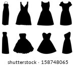 Woman Dress Set Illustrated On...