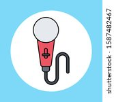 microphone vector icon sign...