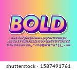 strong bold pop art text effect ... | Shutterstock .eps vector #1587491761