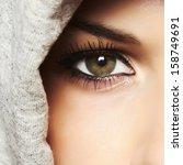 Beautiful Green Eye Of Woman....