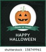vector halloween card | Shutterstock .eps vector #158749961
