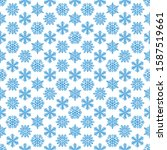 snowflakes seamless winter...   Shutterstock .eps vector #1587519661