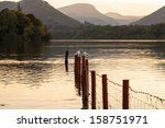 derwentwater lake in keswick ...