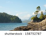 View On The Rocky Shoreline Of...