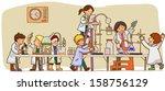 cartoon scientist children kid... | Shutterstock .eps vector #158756129
