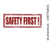 first,grunge,icon,illustration,message,protection,rubber,safety,security,sign,stamp,symbol,vector,warning