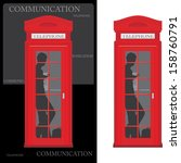Telephone Box Isolated On The...