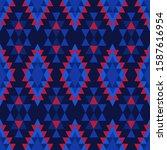 Seamless Pattern With Rhombus...