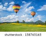 Hot Air Balloon Over The Yello...