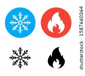 hot and cold vector icons on a... | Shutterstock .eps vector #1587660364