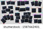 photos on color adhesive tapes. ... | Shutterstock . vector #1587662401