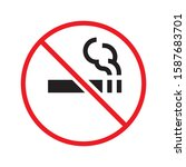 flat  isolate sing no smoking | Shutterstock .eps vector #1587683701