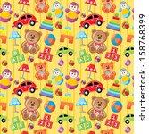 seamless toys pattern. vector | Shutterstock .eps vector #158768399